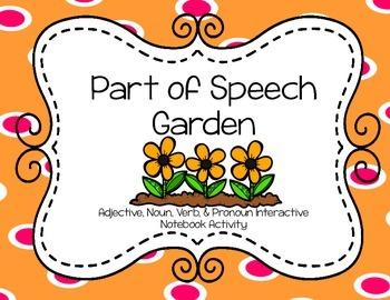 Part of Speech Garden Interactive Notebook Activity