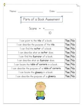Part of a Book Assessment