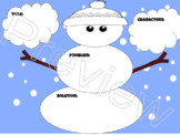Part of a Story Graphic Organizer Snowman