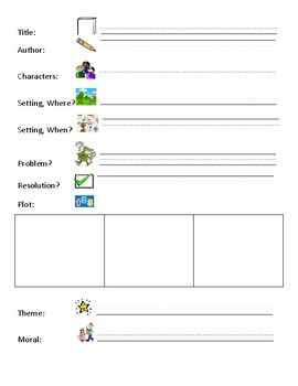 Part of a Story Worksheet with Matching Flashcards