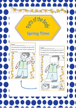 Parts of the body using spring theme