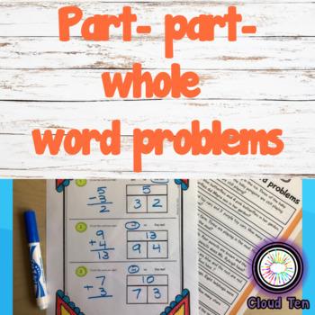 Part part whole word problems