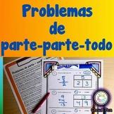 Part part whole word problems Spanish