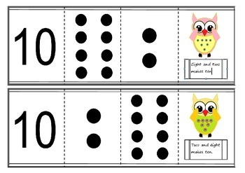 common core Part to whole cards - Singapore maths