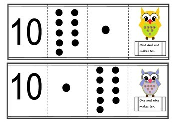 Part to whole cards - Singapore maths