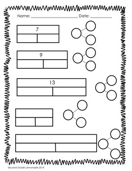Part/Part/Whole - Number Bonds, Bar Modeling and Fact Families