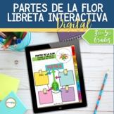 Partes de la Flor Libreta Interactiva Digital DISTANCE LEARNING