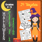 Parts of Speech in Spanish / Partes de la Oracion Halloween Grados 2-4
