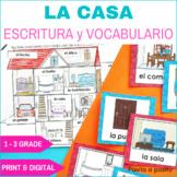 Partes de la casa - Parts of the house in Spanish. DIGITAL