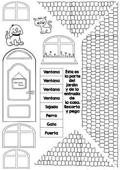 Partes de la casa: vocabulario y manualidad