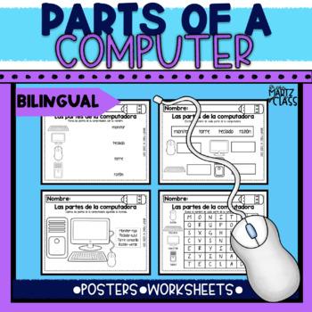 Partes de la computadora/Parts of a computer (Bilingual)