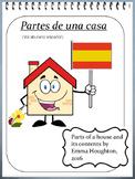 Partes de una casa en español. Parts of a house and its co