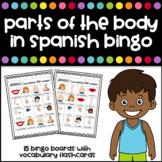 Parts of the body in Spanish Bingo - Partes del Cuerpo