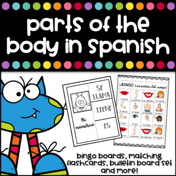 Partes del Cuerpo - Parts of the body in Spanish