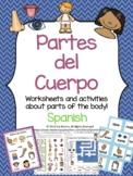 Partes del Cuerpo - Spanish Body Parts worksheets & flashcards