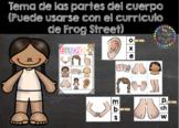 Partes del Cuerpo ( puede ser usado con el currículo de Frog Street)