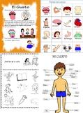 Partes del Cuerpo y 5 sentidos en Español (body parts and five senses Spanish)