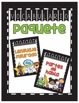 Partes del habla y lenguaje figurado/Parts of Speech/Figurative Language Spanish