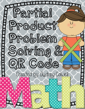 Partial Product Method QR Code & Problems