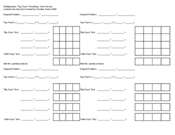 Worksheets Partial Product Multiplication Worksheets partial products worksheet delibertad product multiplication by caroline jones teachers pay