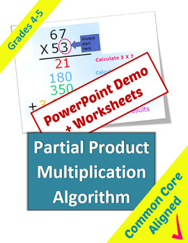 Partial Product Multiplication Algorithm by Classroom Caboodle   TpT