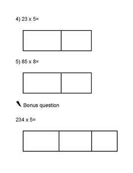 Partial Product Multiplication Exit ticket