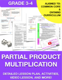 Partial Product Multiplication Lesson Plan, Activities, an