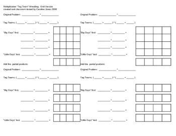 Partial Product Multiplication by Caroline Jones | Teachers Pay ...