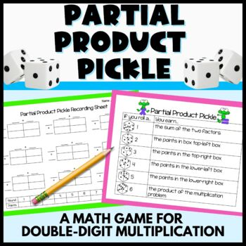 Partial Product Pickle - A 2-digit by 2-digit multiplication game