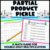 Partial Product Pickle 2 Digit by 2 Digit Multiplication Game