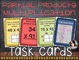 Partial Products 2 Digit Multiplication Task Cards - COMMON CORE ALIGNED 4.NBT.5