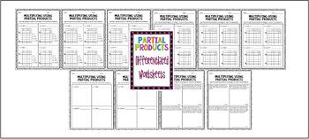Partial Products ~ 4-Digit by 1-Digit Bundle