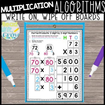 Partial Products & Lattice Multiplication: Wipe On/Wipe Off Boards