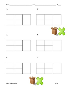 Partial Products Blank - Bo... by Teaching With Heart in Texas ...