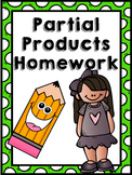 4.NBT.5 Partial Products Multiplication Homework