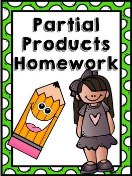 4.NBT.5 Partial Products Multiplication Homework