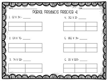 Partial Products Multiplication Practice
