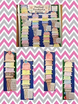 Partial Products Parlor - Differentiated Math Craftivity