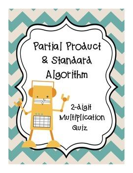 Partial Products Standard Algorithm Quiz