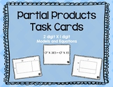 Partial Products Task Cards
