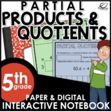 Partial Products and Partial Quotients Interactive Notebook Set