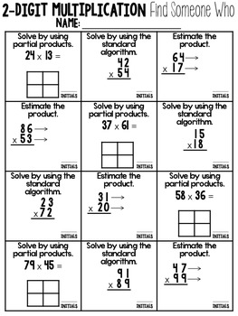 Two-Digit Multiplication Cooperative Learning Activities