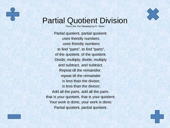 Partial Quoient Song