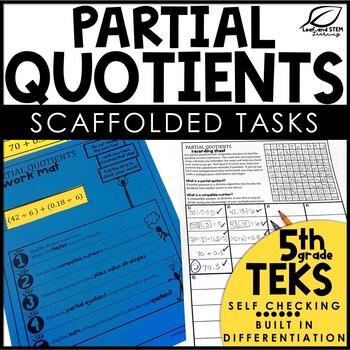 Partial Quotient Decimal Division Activity