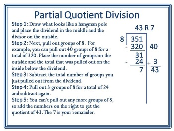 Partial Quotient Division Deluxe Multipack