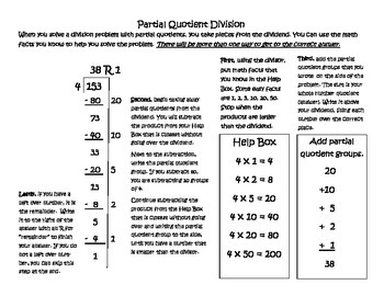 Partial Quotient Practice for ISN