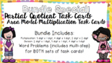 Partial Quotient and Area Model Multiplication BUNDLE!