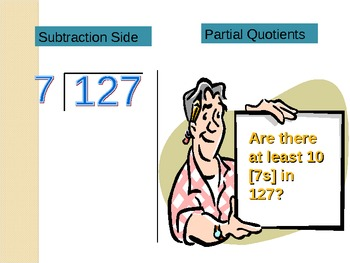 Partial Quotients Division Algorithm Tutorial PowerPoint