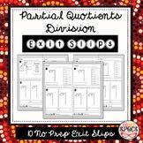Partial Quotients Division Exit Slips