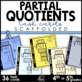 Partial Quotients Division Task Cards and Game | Scaffolded